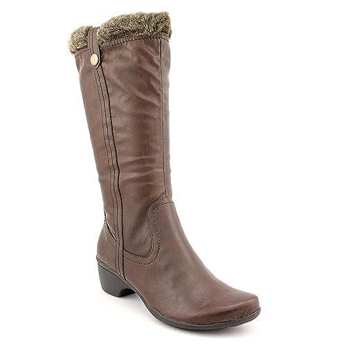 Hush Puppies Geovany - Botas de sintético para mujer marrón marrón oscuro 36.5: Amazon.es: Zapatos y complementos