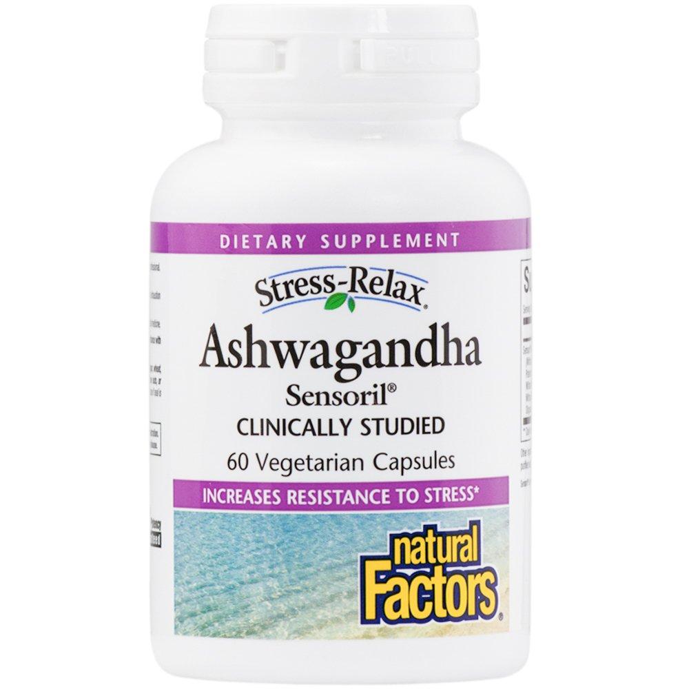 Natural Factors - Stress-Relax Ashwagandha Sensoril, 60 Vegetarian Capsules