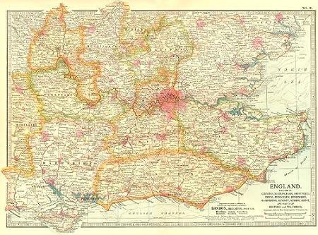 Map Of England Kent.South East England Kent Sussex Essex Surrey Hants Berks Bucks Middx