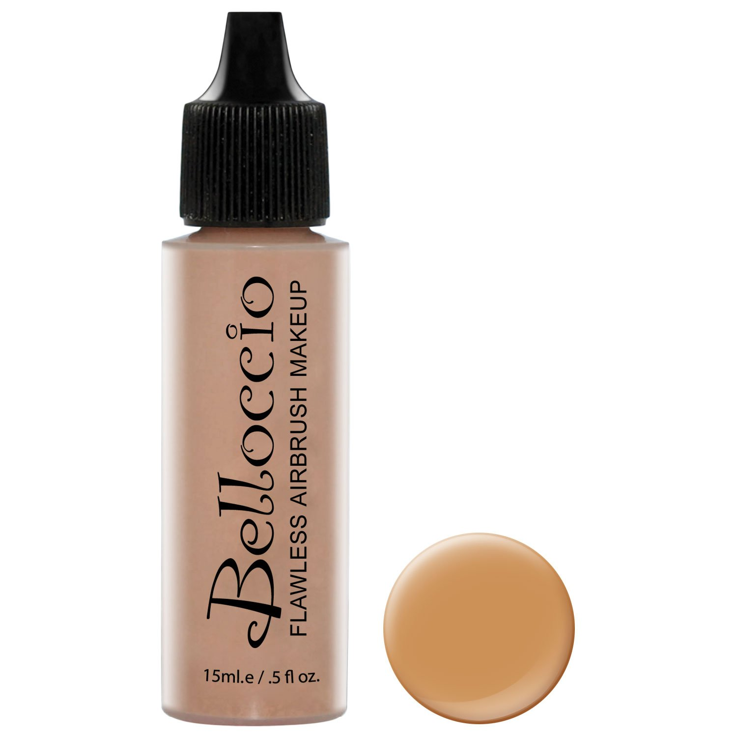 Belloccio's Professional Cosmetic Airbrush Makeup Foundation 1/2oz Bottle: Cappuccino- Medium with Olive Undertones