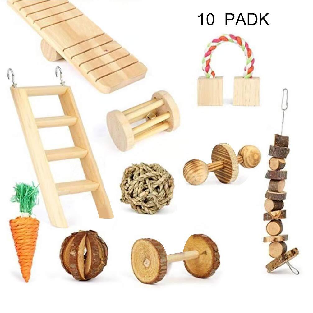 H87yC4ra10 escaleras de Madera para Zanahorias, cobayas, Chinchillas, Conejos, mordedores, Juguetes: Amazon.es: Productos para mascotas