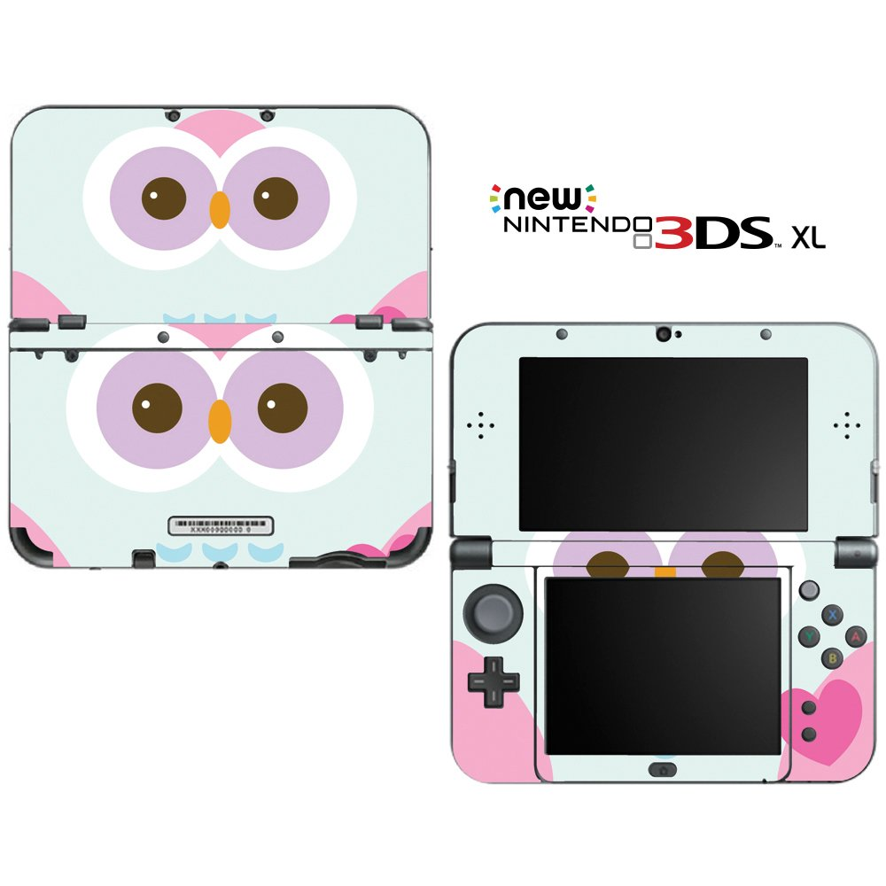 Cute Owl Decorative Video Game Decal Cover Skin Protector for the ''New'' Nintendo 3DS XL (2015-2016 Edition)