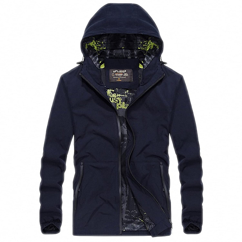 Amazon.com: Mens Autumn Jacket Casual Military Quick Dry Windbreaker Jacket Men Plus Size M-4XL Coat Male chaqueta hombre: Clothing