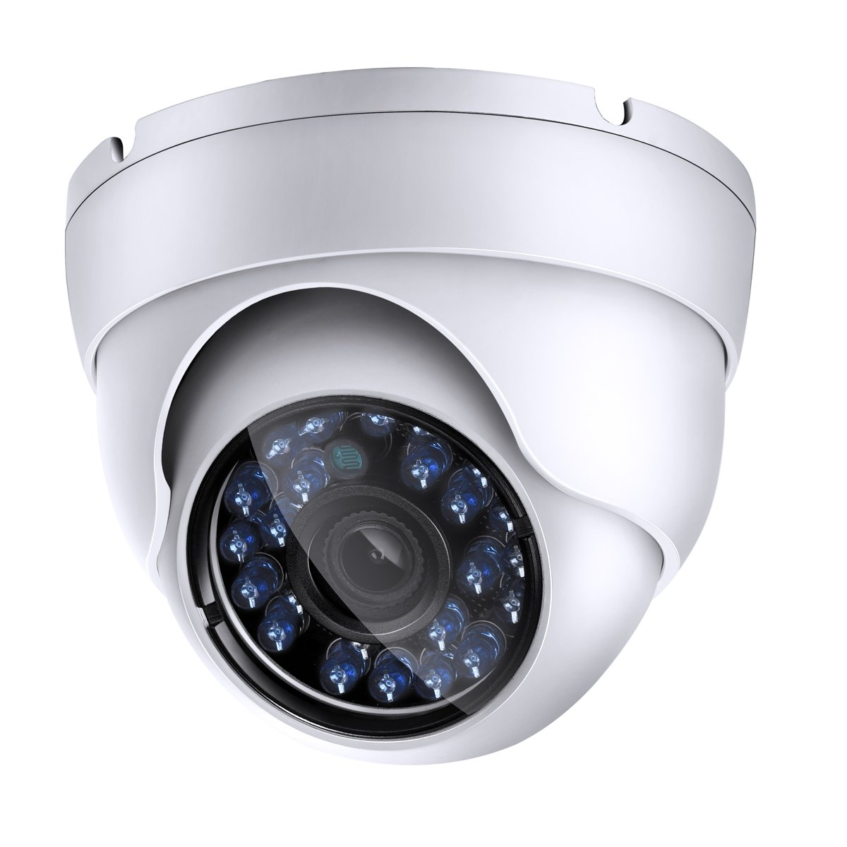 1200tvl CCTV Dome Security Camera, Day Night Vision 24 Ir LEDs Outdoor Indoor Weatherproof Wide Angle 3.6mm Lens for Analog Video Surveillance Cameras System