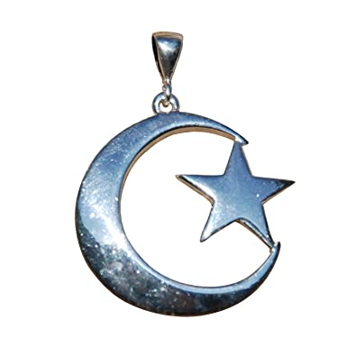 Amazon Unique Medium Size Sterling Silver Islamic Symbol