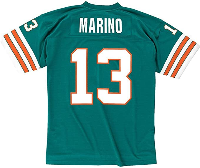Amazon.com : Dan Marino Miami Dolphins Throwback Jersey 5X-Large ...