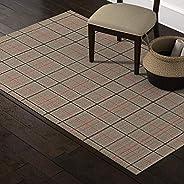 Amazon Brand – Stone & Beam Casual Plaid Area Rug, 5 x 8 Foot, Flatweave, Grey, Ivory,