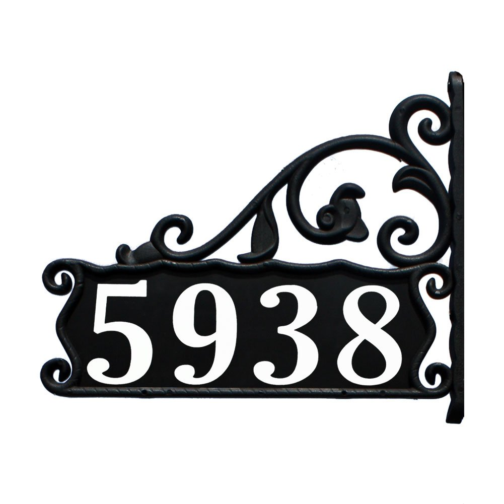 Address America Boardwalk Double-Sided, Reflective Lamppost Sign Large 4'' Bold Reflective Numbers Hand Crafted at Our Small Family Shop