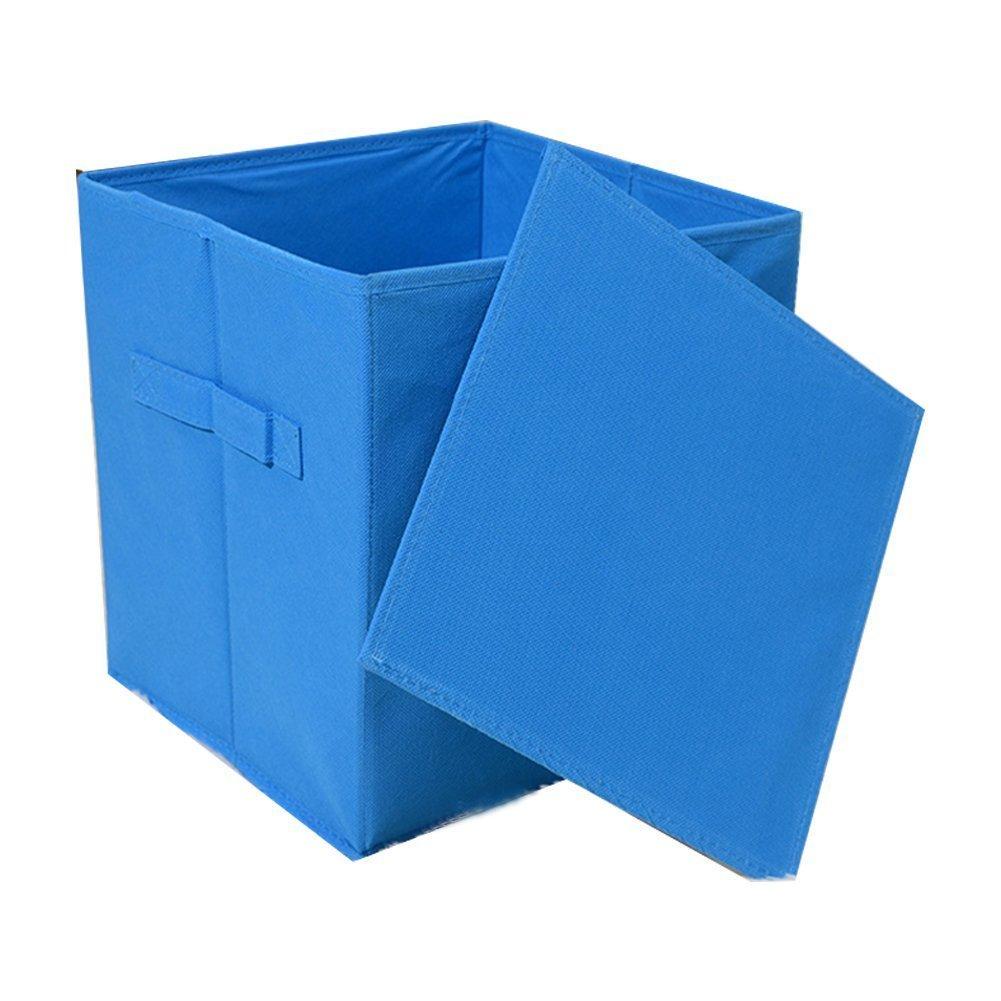Amarillo 31 x 31 x 31 cm Cuadrado plegable juguete cubo cajas de almacenamiento de tela