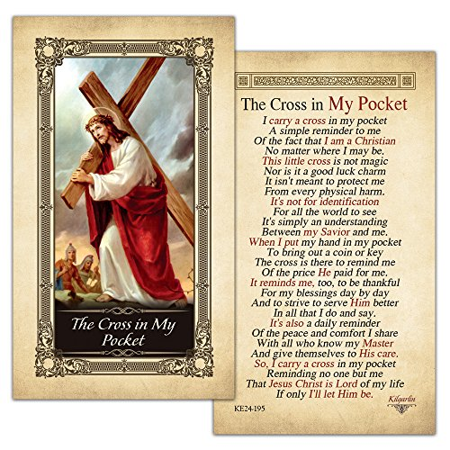 The Cross in My Pocket Laminated Holy Card - Pack of 25
