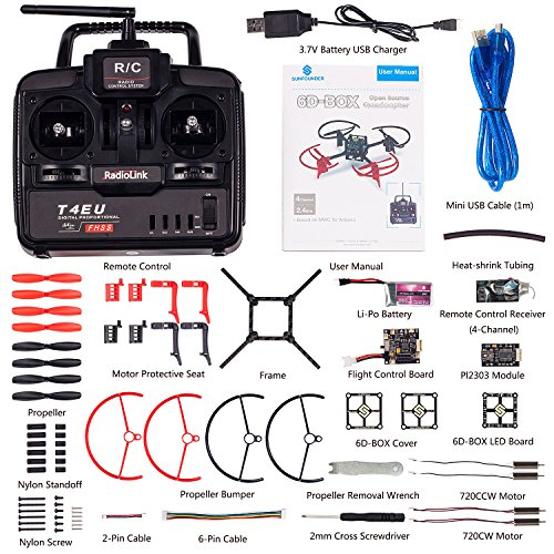 SunFounder RC Drone Quadcopter Kit 6 Axis Multiwii Flight