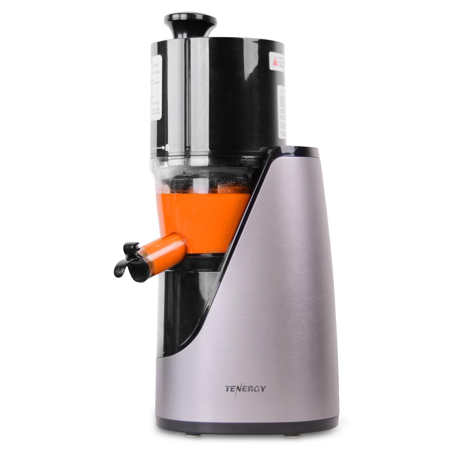 Tenergy Masticating Juicer, Anti-Oxidation Slow Speed Cold Press Juicer, High Nutrient Fresh Vegetable and Fruit Juice Extractor, Easy to Clean Juicer with Jug and Brush