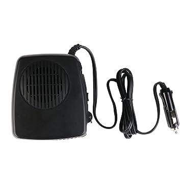 Coche Calentador Defroster Ventilador eléctrico portátil de cerámica con mango de fotografía 2 en 1 12