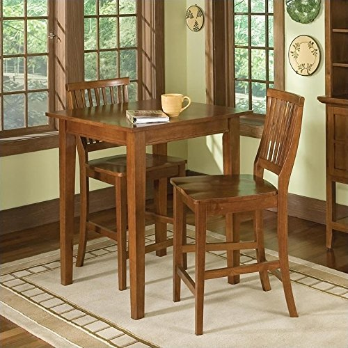 Cottage Oak Finish Seat - Home Style 5180-359 Arts and Crafts 3-Piece Bistro Set, Cottage Oak Finish