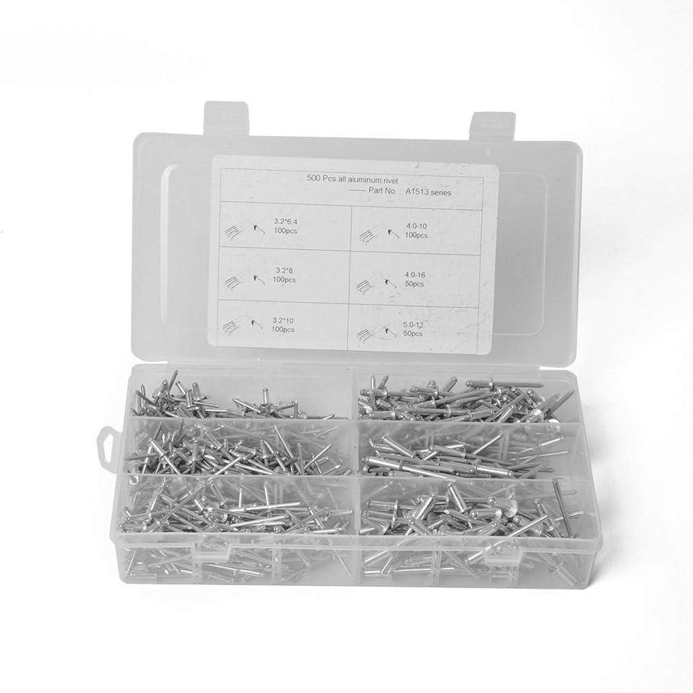 Everpert 500 piezas por caja remaches de aluminio para persianas, remaches de aluminio surtidos para muebles, varios tamaños: Amazon.es: Coche y moto