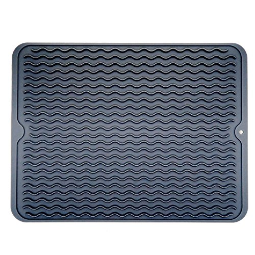 Large Dish Silicone Drying Mat, Draining Mat for Kitchen Cou