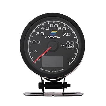 qiilu ql05020 Medidor de la temperatura del aceite del manómetro del turbo la presión de aceite para coche de carreras manometro Turbo Boost default