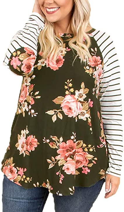 WOMENS Tunic Dress NAVY Blue Long Sleeve FLORAL Print BLOUSE TOP PLUS SIZE 20 28