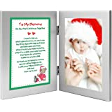 Christmas Gift for New Mom - To My Mommy On Our First Christmas Together - Add Photo to Frame