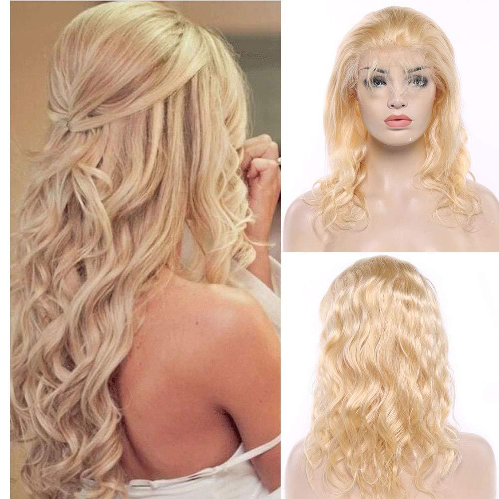 613 Blonde Peruvian Virgin Human Hair Wigs For Women With Baby Hair