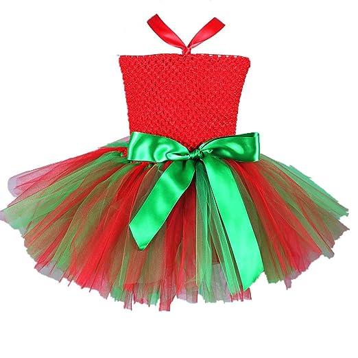 JJAIR Duende de la Navidad de la Falda para Las niñas, en Capas de ...