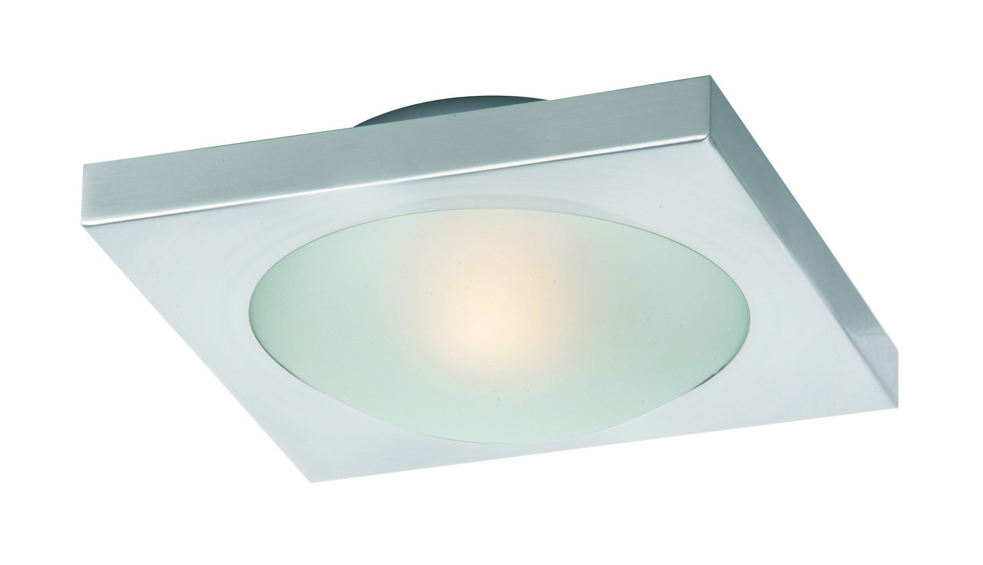 ET2 E53830-09SN Piccolo LED 1-Light LED Flush/Wall Mount, Satin Nickel Finish, Frost White Glass, PCB LED Bulb, 100W Max., Dry Safety Rated, 3000K Color Temp., Low-Voltage Electronic Dimmer, Glass Shade Material, 5495 Rated Lumens