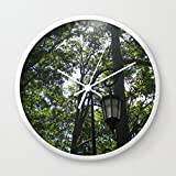 Society6 Lamppost, Wellesley College Wall Clock White Frame, White Hands