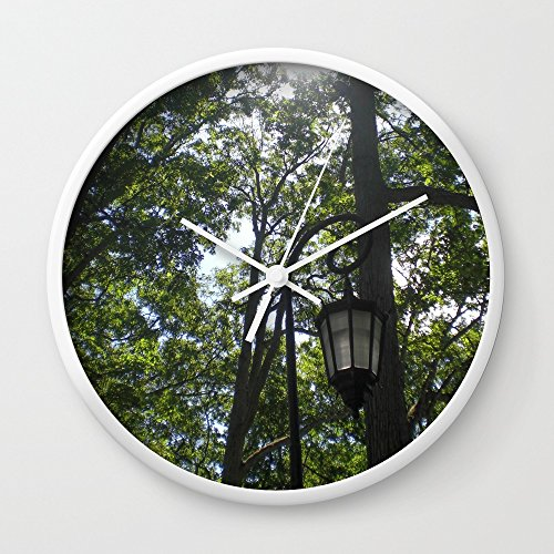 Society6 Lamppost, Wellesley College Wall Clock White Frame, White Hands by Society6 (Image #1)
