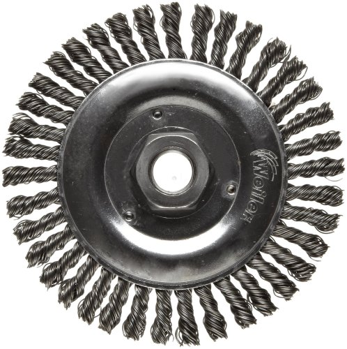 Weiler Dualife Narrow Face Wire Wheel Brush, Threaded Hole, Steel, Stringer Knotted, 5