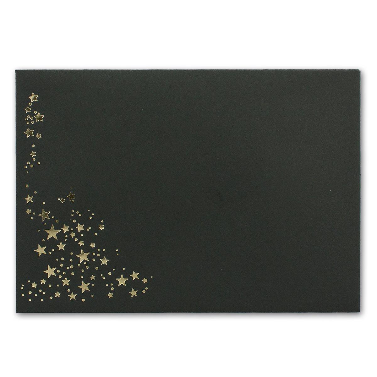 500x Weihnachts-Briefumschläge   DIN C5     mit Gold-Metallic geprägtem Sternenregen, festlich matter Umschlag in Sandbraun   Nassklebung, 120 g m²   157 x 225 mm   Marke  GUSTAV NEUSER® B07CHN6D6Z | Moderne Technologie  | Verpackungsvie dc73ad