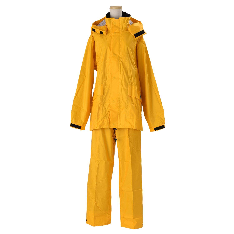 エコブレス 透湿レインスーツ 全4色 全6サイズ 上下スーツ ゴールデンイエロー S 防水透湿コーティング 2層レイヤー 収納袋付き K600-GYE-S B01ET2QLSY Small|ゴールデンイエロー ゴールデンイエロー Small