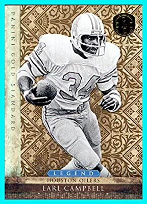 2011 Panini Gold Standard #144 Earl Campbell Houston Oilers Serial #8/299