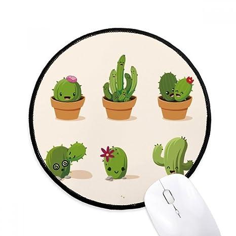 Amazoncojpcactus 多肉植物 鉢植え イラスト 丸型 ノンスリップ