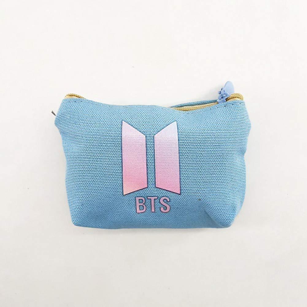 Pack of 2 Youyouchard BTS Bangtan Boys Love Yourself Retro Money Bag Small Cute Coin PurseChange Cash Bag