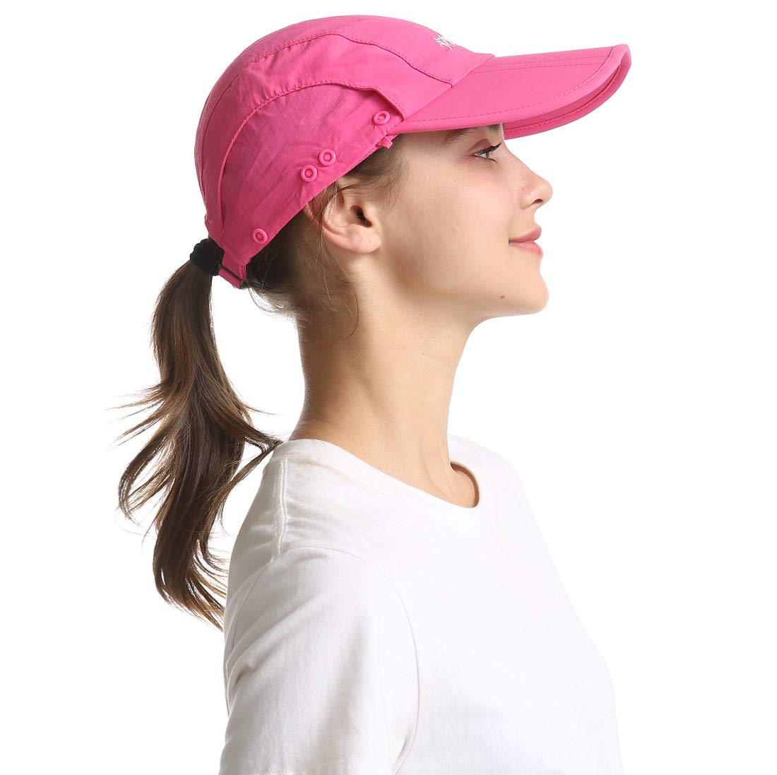 ICOLOR Sun Cap Fishing Hats Outdoor Sun Protection Visor Caps with Neck Face Flap Cover