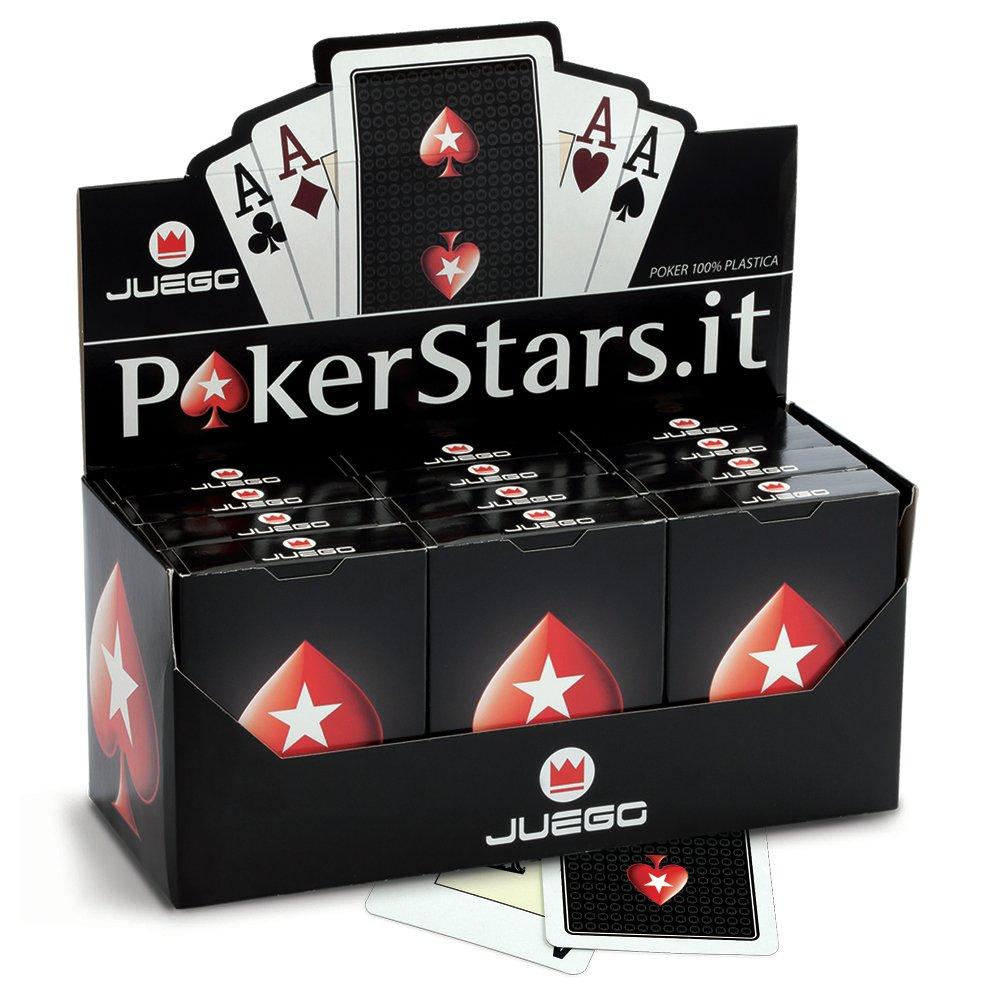 Juego JU90032 Carte Texas Hold'em Poker, Carte da gioco, [Colori assortiti, blu o rosso] [Colori assortiti ITA Srl carte burraco carte da poker