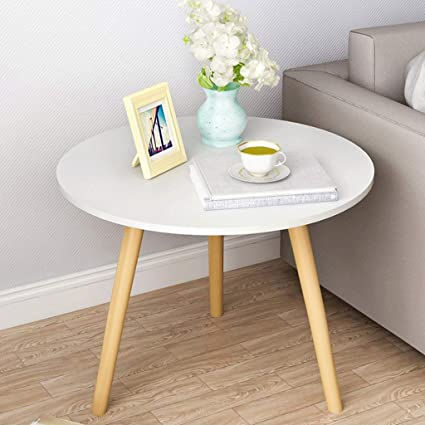 separation shoes 6bd1a a818e Amazon.com: Round Coffee Table Solid Wood Side Table Work ...