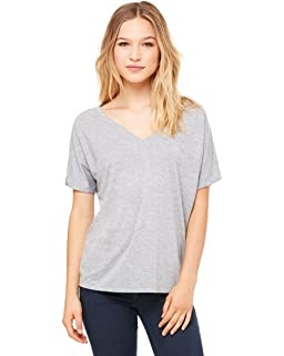 97dc36820 Bella + Canvas Ladies Slouchy V-Neck T-Shirt at Amazon Women's ...