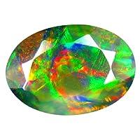Opale nero Pietra preziosa sciolto 0.93 ct AAA+ Grade Oval Shape (10 x 7 mm) Dancing Play of Colors Genuine Black Opal Loose Gemstone