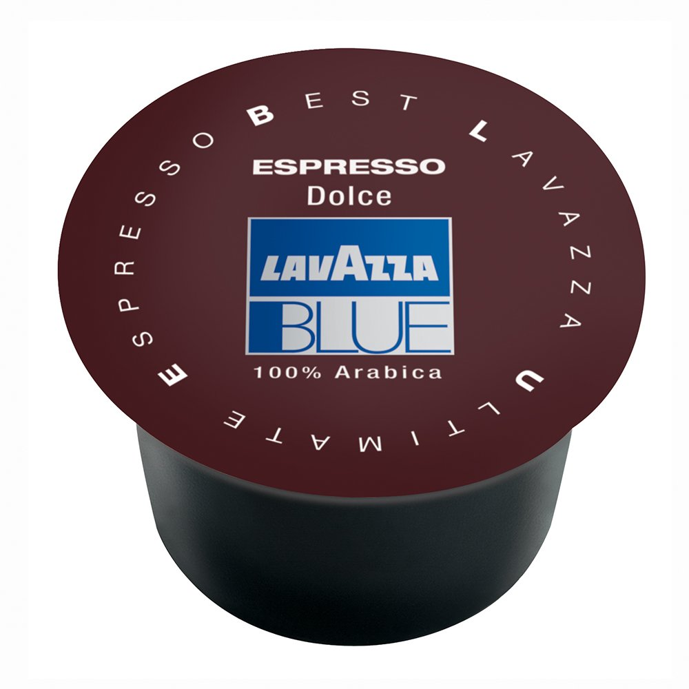 Lavazza BLUE Capsules, Espresso Dolce Coffee Blend, Medium Roast, 28.2-Ounce Boxes (Pack of 100) by LAVAZZA BLUE