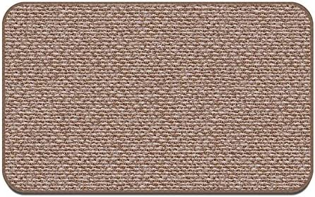 House, Home and More Skid-Resistant Carpet Indoor Area Rug Floor Mat – Praline Brown – 8 Feet X 12 Feet