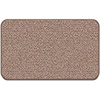 House, Home and More Skid-resistant Carpet Indoor Area Rug Floor Mat - Praline Brown - 2 X 3 - Many Other Sizes to Choose From