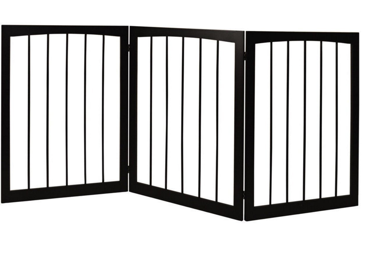 House Additions 3 Section Wooden Folding Pet Gate Can be Used in Any Room, Multifunctional Dog Gate, Compact Storage