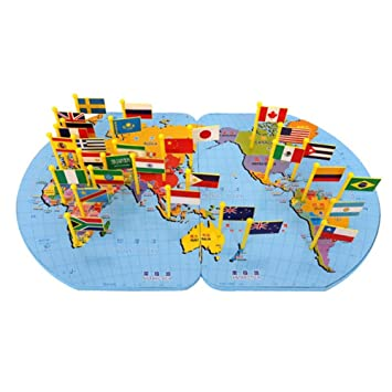 Wooden world map flag puzzle toy matching geography educational wooden world map flag puzzle toy matching geography educational toy gumiabroncs Images