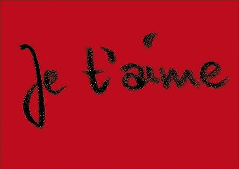 Französisch Für U0026quot;Ich Liebe Dichu0026quot;   Je Tu0027aime Die Romantische  Liebeskarte