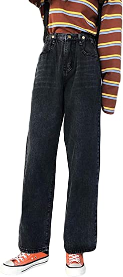 QYYジーンズ レディース デニムパンツ ゆったり ワイドパンツ デニム おしゃれ ジーパン カジュアル ロング ストレートパンツ ファッション Gパン 着痩せ ズボン