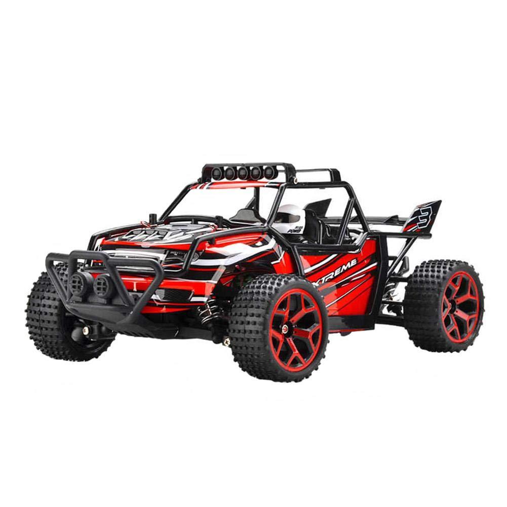 Elettrico RC Stunt Car 2WD Off Road Telecomando Veicolo 2.4GHz Veicolo da corsa rossoazione ad alta velocità Gara All Terrain Truck Veicolo (batteria non inclusa)