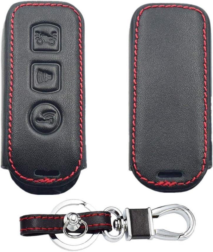 2 Boutons Happyit Cas de Couverture de Cl/é de Voiture en Cuir Porte-cl/és pour Honda PCX 150 X-ADV SH125 Scoopy SH300 Forza Super Cub 125 300 2 3 Boutons