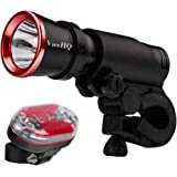 ViceHQ Bike Light Kit Super Bright Removable Bicycle Flashlight and Strong, LED Taillight, 9 Piece