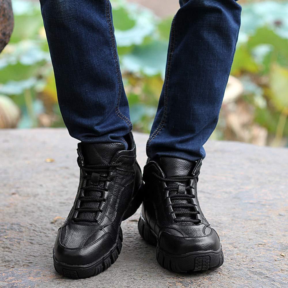 DZX DZX DZX Herren Stiefel Wandern Trekking Wanderschuhe Winter Wasserdicht Warm Rutschfest Wandern Warme Stiefel Outdoor-Arbeit,schwarz-42 955c37